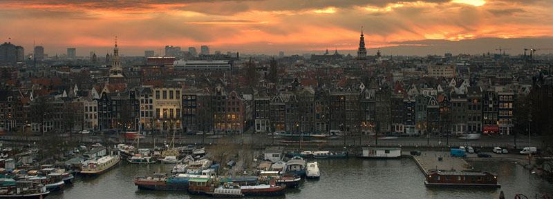 Amsterdam al tramonto