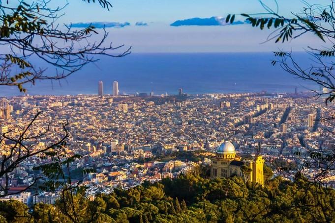 Veduta panoramica di Barcellona