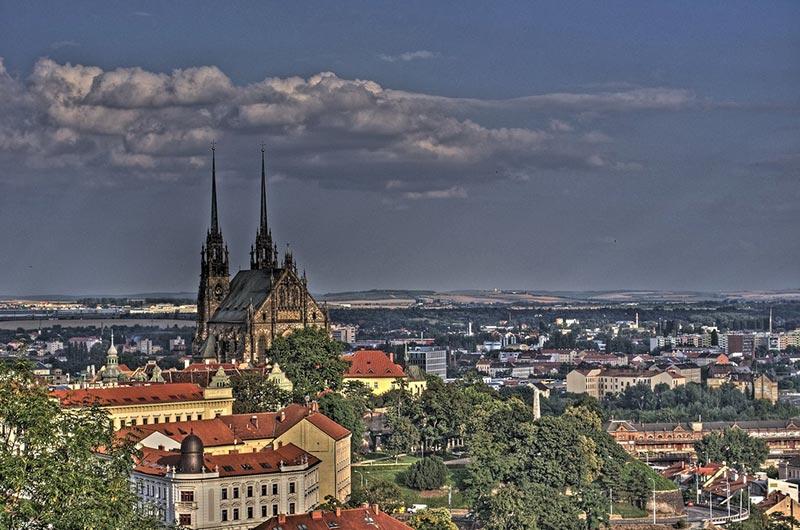 Veduta panoramica di Brno