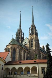 Le due torri della cattedrale di Brno