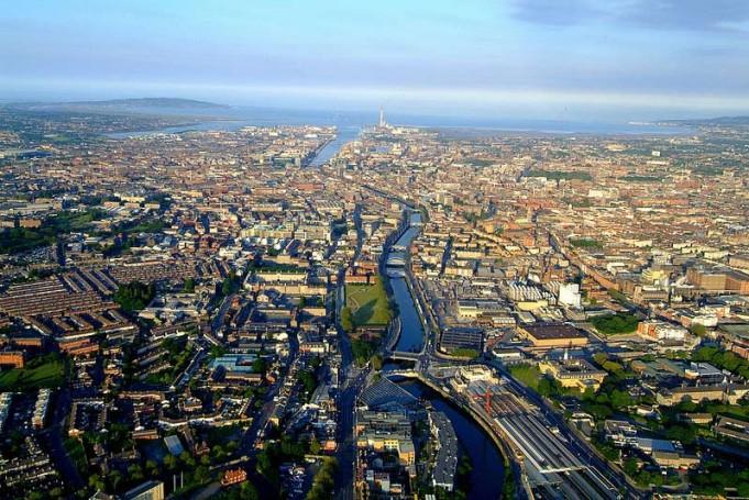 Dublino vista dall'alta