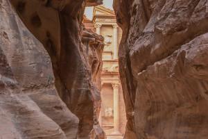 La gola del Siq a Petra