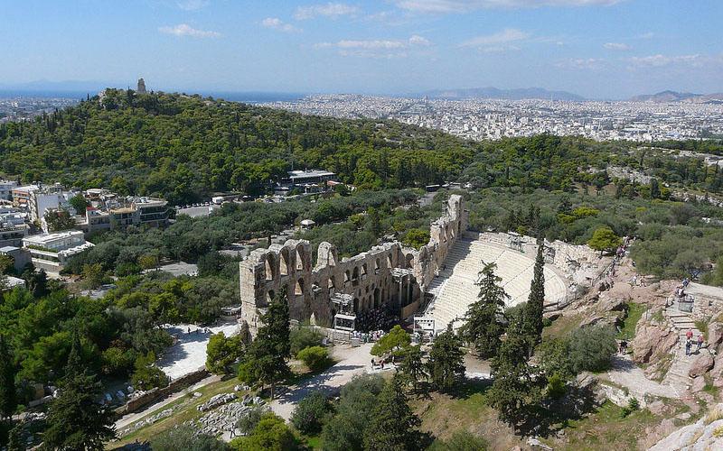 Teatro di Dioniso - Veduta panoramica di Atene